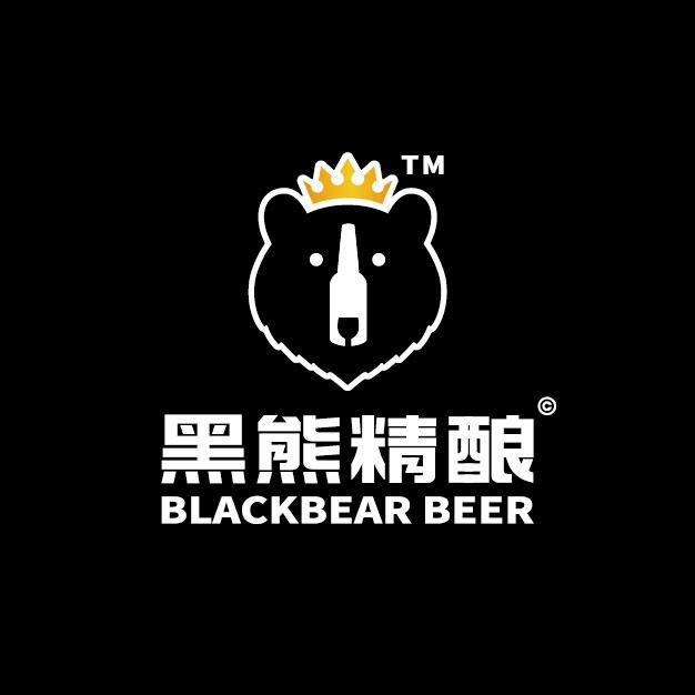 黑熊精酿啤酒品牌设计/logo设计/vi设计